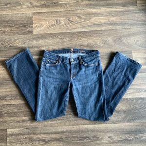 7FAM 7 FOR ALL MANKIND Low-rise Bootcut Jeans 30